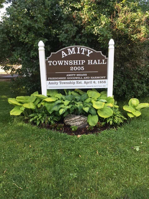 Amity Township Hall Sign 2